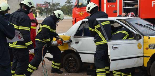 GHANA NATIONAL FIRE SERVICE INAUGURATES RESCUE TEAM